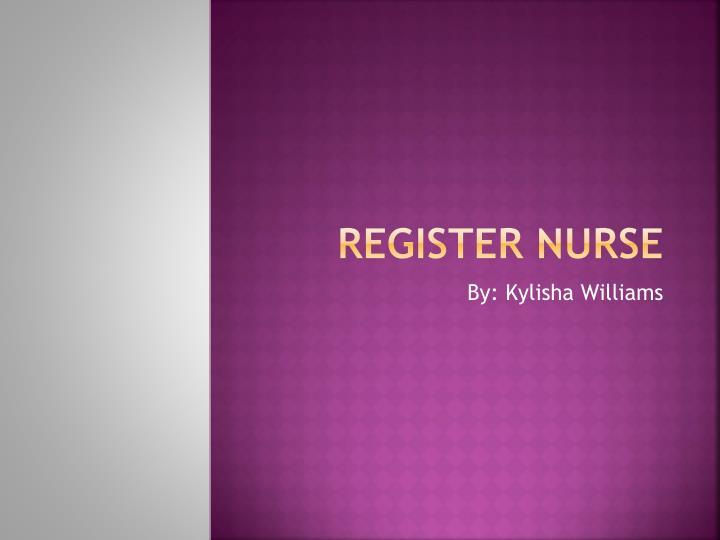 register nurse n.