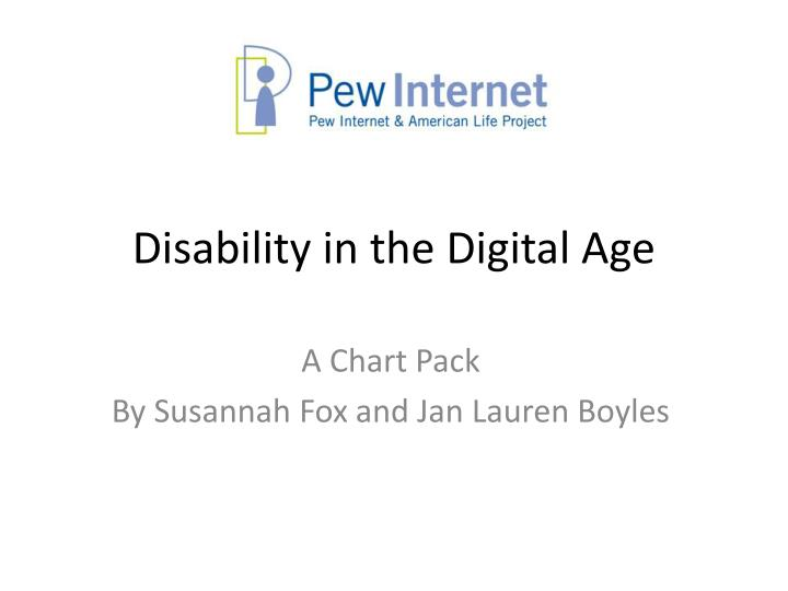 disability in the digital age n.