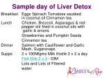 sample day of liver detox
