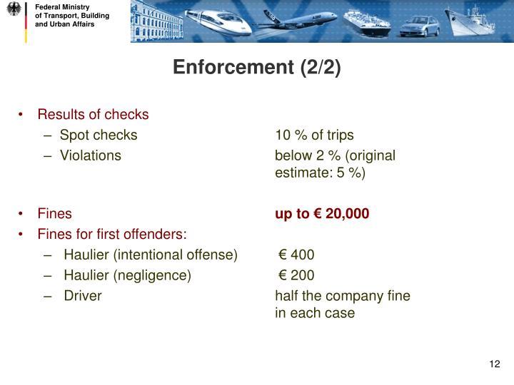 Enforcement (2/2)