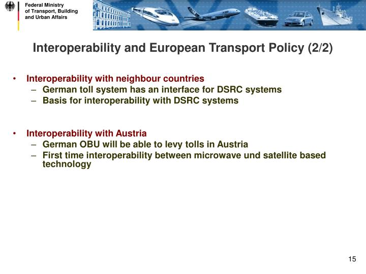 Interoperability and European Transport Policy