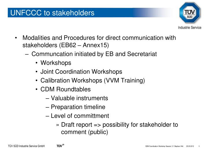 Unfccc to stakeholders1
