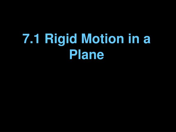 7 1 rigid motion in a plane n.