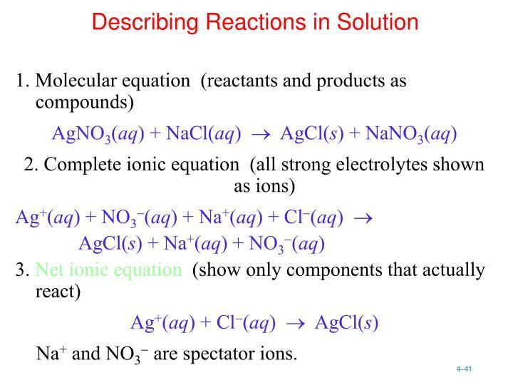 1. Molecular equation