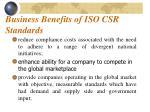 business benefits of iso csr standards