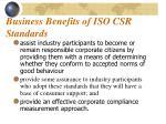 business benefits of iso csr standards1