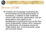 drivers of csr1