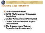 existing csr initiatives