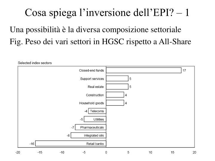 Cosa spiega l'inversione dell'EPI? – 1