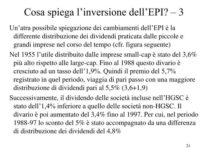 Cosa spiega l'inversione dell'EPI? – 3