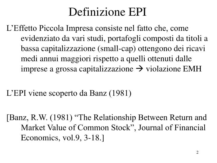 Definizione epi