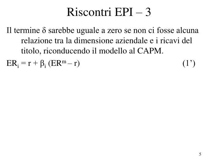 Riscontri EPI – 3