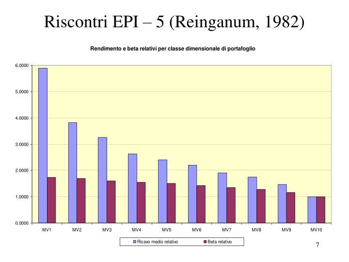 Riscontri EPI – 5 (Reinganum, 1982)