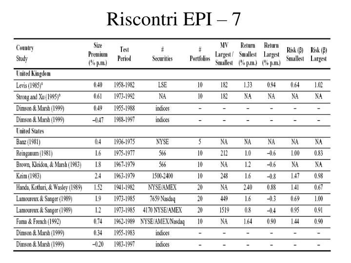 Riscontri EPI – 7