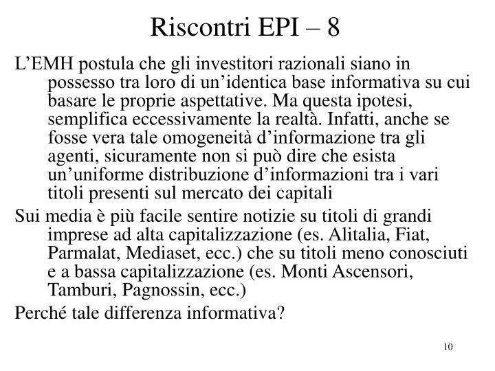 Riscontri EPI – 8