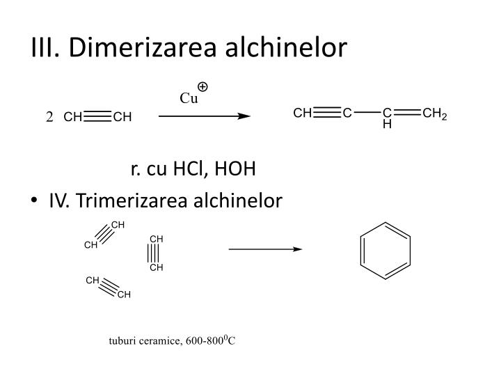 III. Dimerizarea alchinelor
