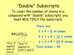 double subscripts1