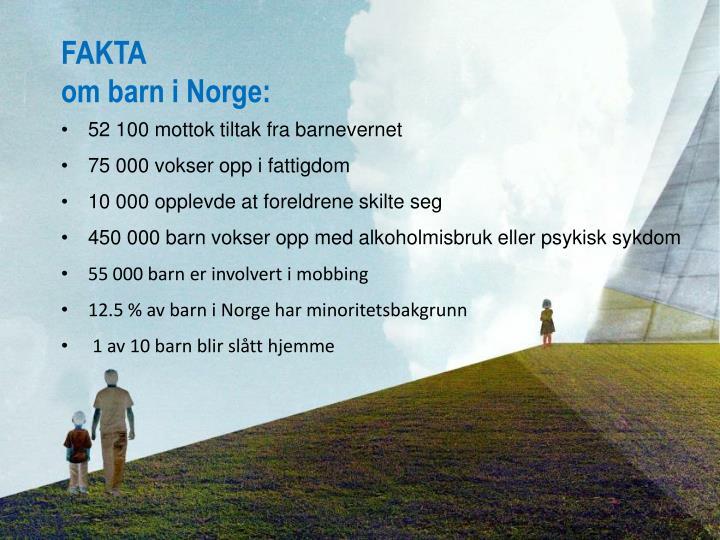 Fakta om barn i norge