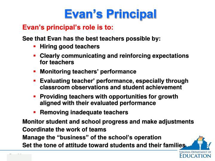 Evan's Principal
