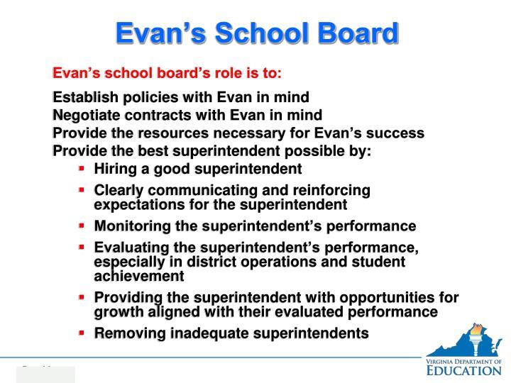 Evan's School Board