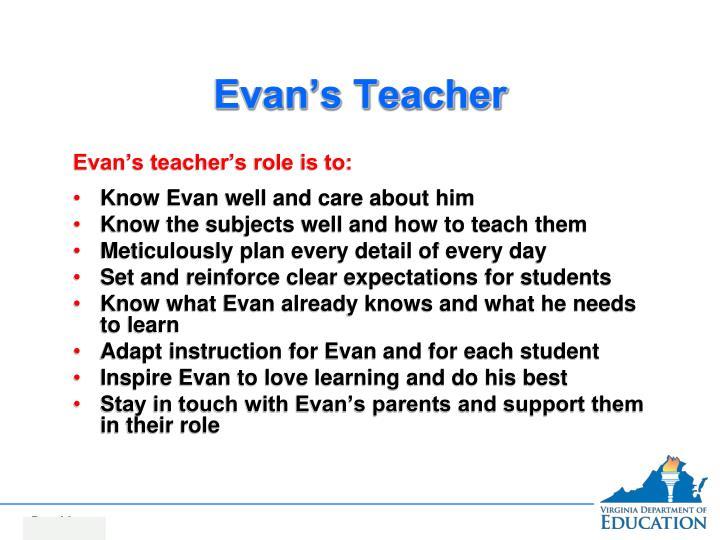 Evan's Teacher