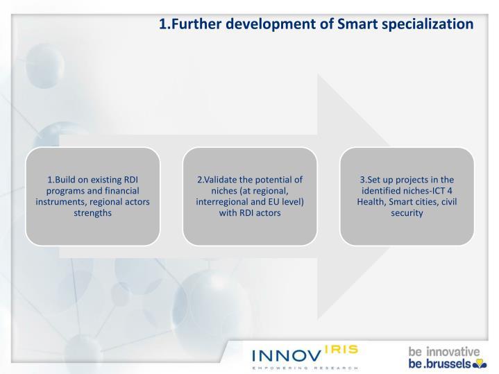 1.Further development of Smart specialization
