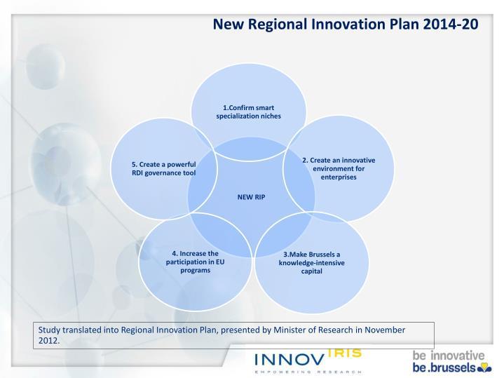 New Regional Innovation Plan 2014-20