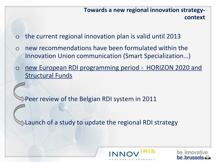 Towards a new regional innovation strategy-