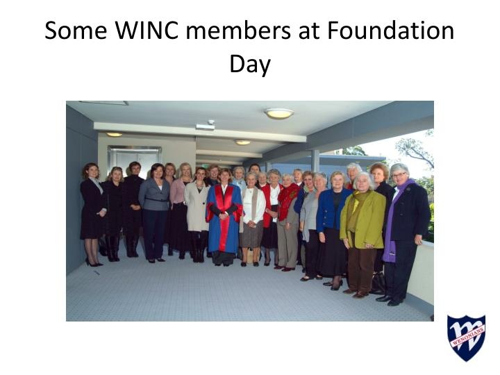 Some WINC members at Foundation Day