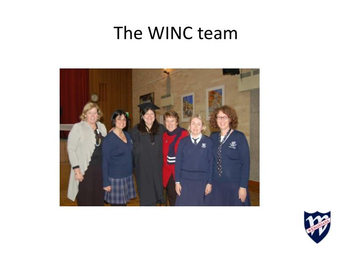 The WINC team