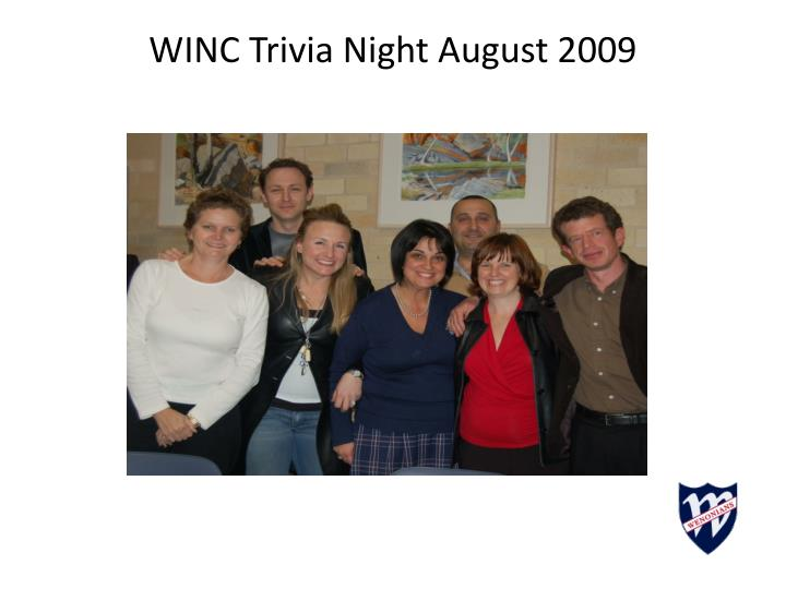 WINC Trivia Night August 2009