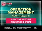 operation management mgm 4147 group 5