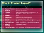 why in product layout