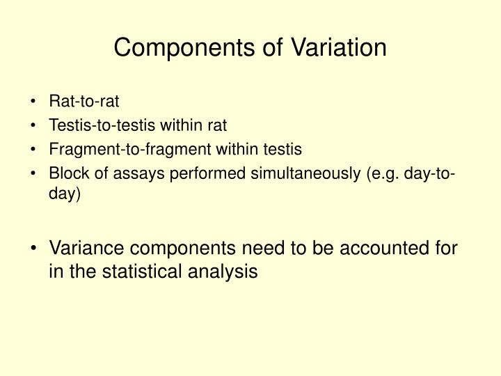 Components of Variation