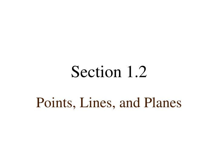 section 1 2