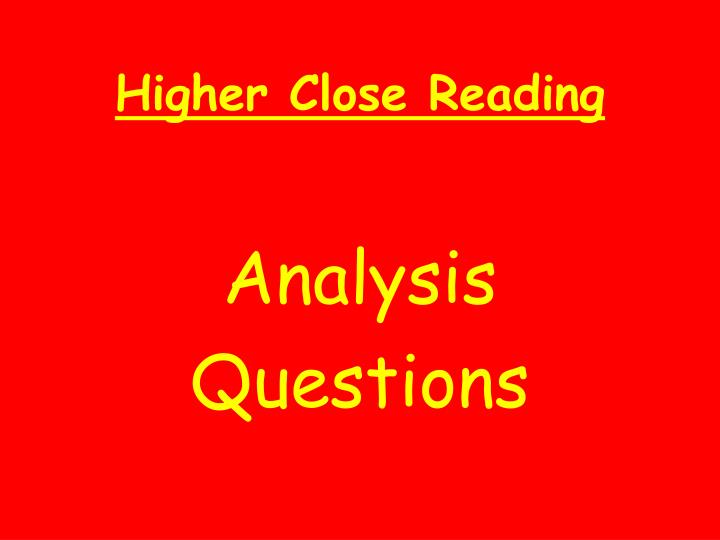 close analysis questions A closed-ended question contrasts with an open-ended question examples of close-ended questions: were you born in 1970 is the capital of france paris did you steal.