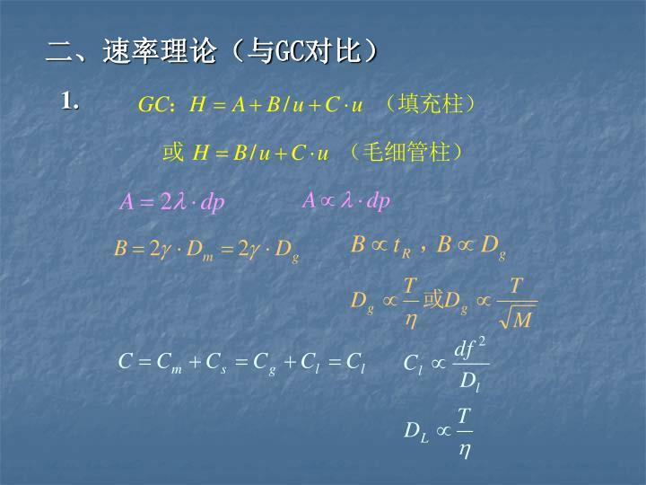 二、速率理论(与