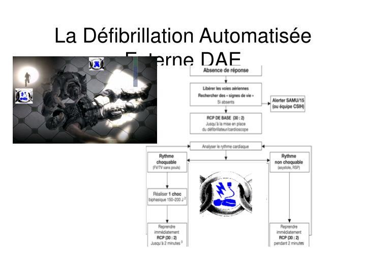La d fibrillation automatis e externe dae