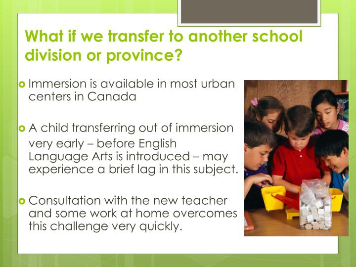 What if we transfer to another school division or province?