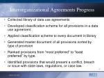 interorganizational agreements progress