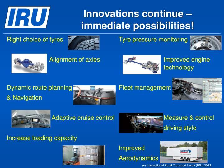 Innovations continue –