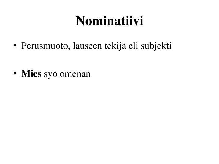 Nominatiivi