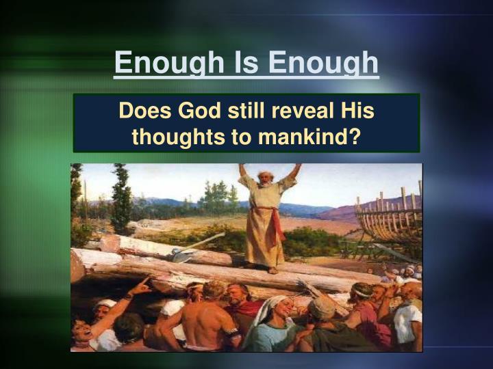 enough is enough n.