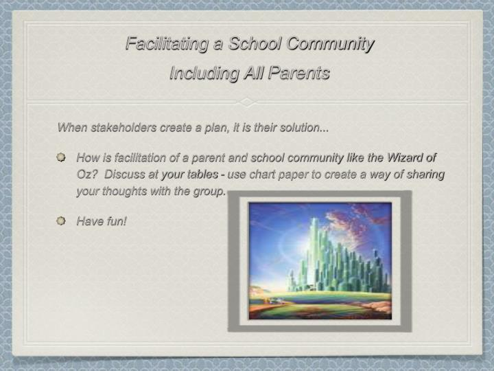 Facilitating a School Community