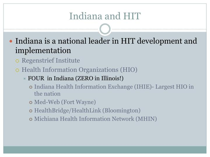 Indiana and HIT