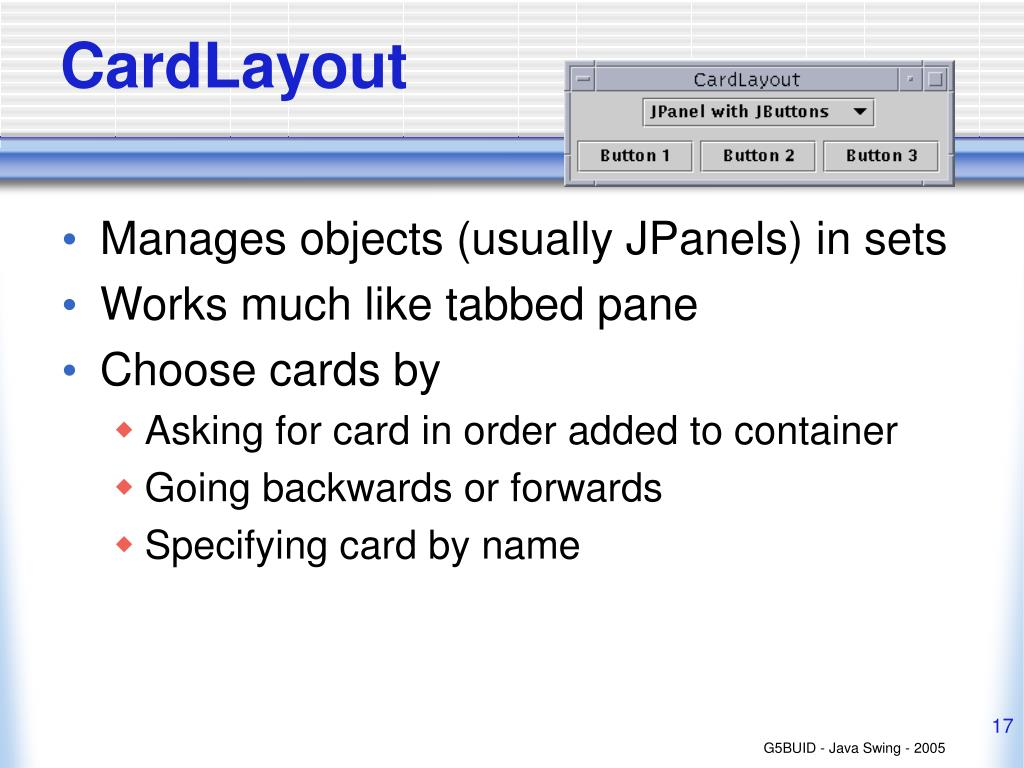PPT - Java Swing - Lecture 3 Layout Management PowerPoint