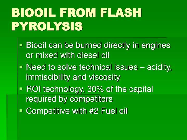 BIOOIL FROM FLASH PYROLYSIS