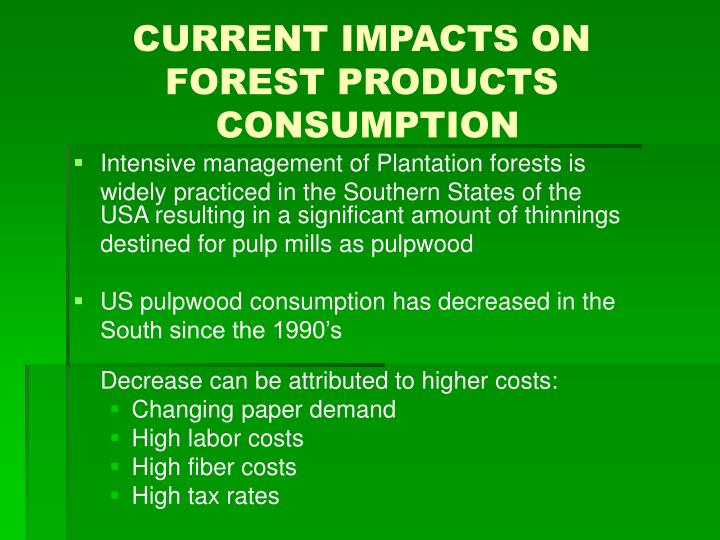 CURRENT IMPACTS ON