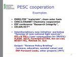 pesc cooperation