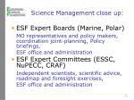 science management close up